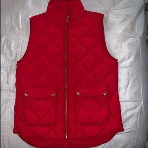 red jcrew vest worn once